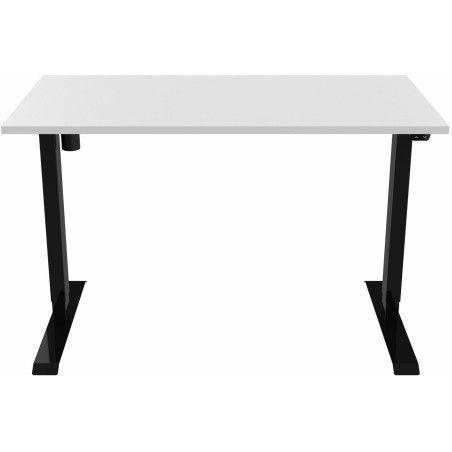 Sähköpöytä 120 x 60cm Musta/Valkoinen