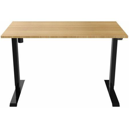 Sähköpöytä 140 x 70cm Musta/Tammi