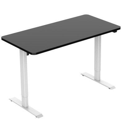 Sähköpöytä 140 x 70cm Valkoinen/Musta