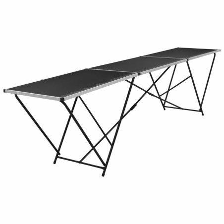 Taittuva tapetointipöytä MDF ja alumiini 300x60x78 cm