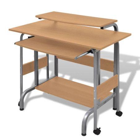 Ruskea Tietokonepöytä Säädettävä Työasema