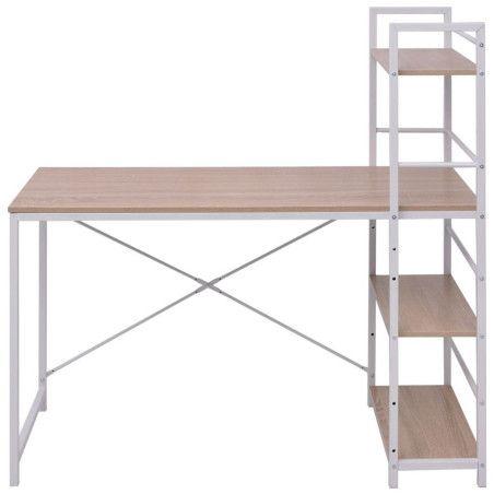 Pöytä 4-Kerroksisella Kirjahyllyllä Tammi