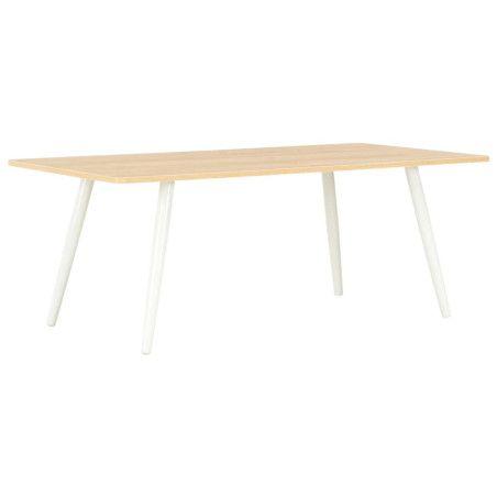 Sohvapöytä valkoinen ja tammi 120x60x46 cm