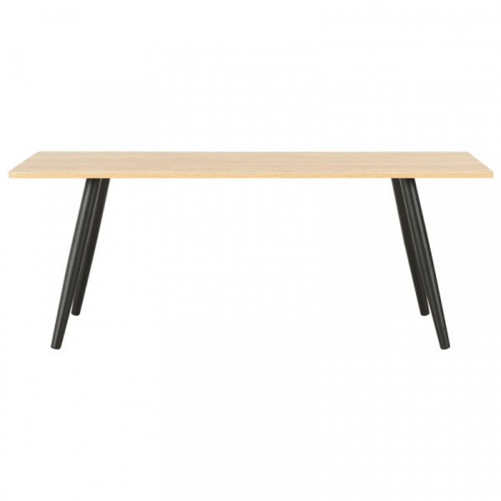 Sohvapöytä musta ja tammi 120x60x46 cm