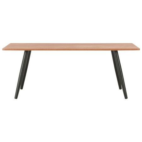 Sohvapöytä musta ja ruskea 120x60x46 cm