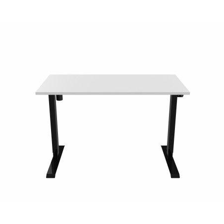 Sähköpöytä 140 x 70cm Musta/Valkoinen