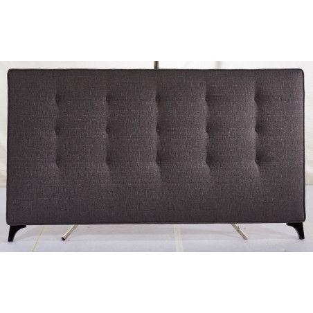 Sängynpääty 190x111cm, kangasverhoilu, tummanharmaa
