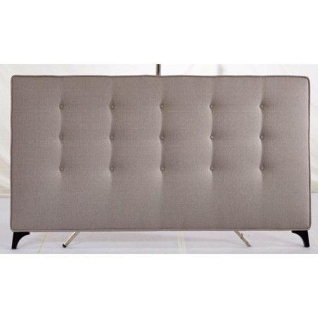 Sängynpääty 190x111cm, kangasverhoilu, beige