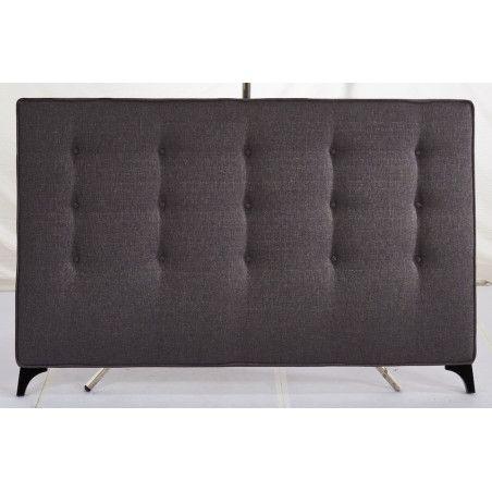 Sängynpääty 170x111cm, kangasverhoilu, tummanharmaa