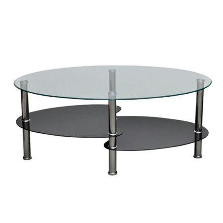 Sohvapöytä yksilöllinen 3-tasoinen muotoilu Musta