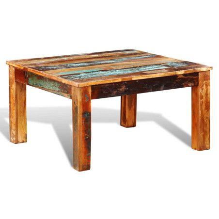Sohvapöytä neliö Kierrätetty puu