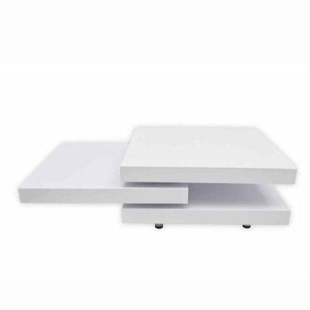 Sohvapöytä 3 tasoa Korkeakiilto valkoinen