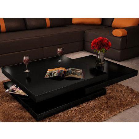 Sohvapöytä 3 tasoa Korkeakiilto musta