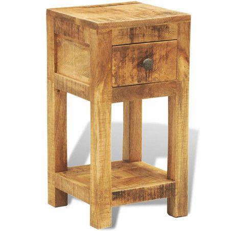 Yöpöytä 1 vetolaatikolla Mangopuu