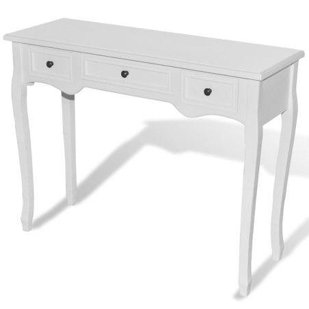 Sivupöytä 3 laatikkoa Valkoinen