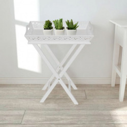 Tarjotinpöytä Valkoinen