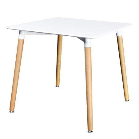 Ruokapöytä neliö MDF Valkoinen