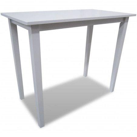 Puinen baaripöytä Valkoinen