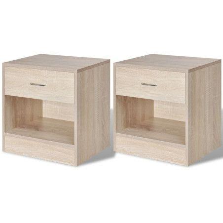 Yöpöytä vetolaatikolla 2 kpl Tammenvärinen