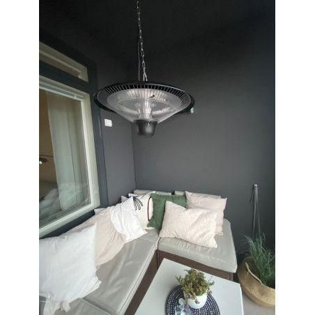 Terassilämmitin 1500W LED-valolla + kaukosäädin