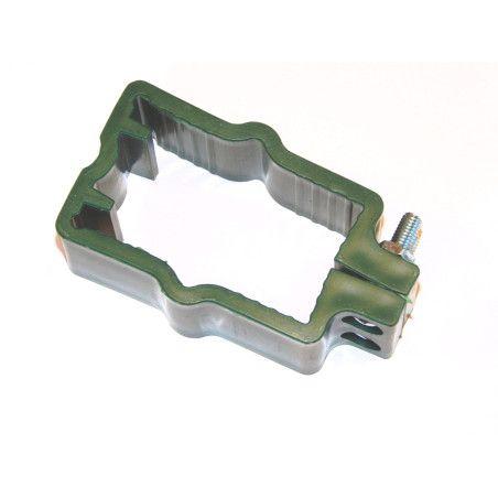 10x Aitaelementin muovikiinnike, nelikulmaiselle 40x60mm tolpalle