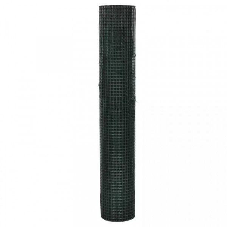 Kanaverkko galvanoitu PVC pinnoitteella 10x1 m vihreä
