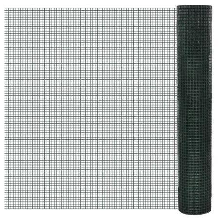 Kanaverkko galvanoitu PVC pinnoitteella 25x1 m vihreä