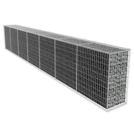 Gabionseinä kannella galvanoitu teräs 600x50x100 cm