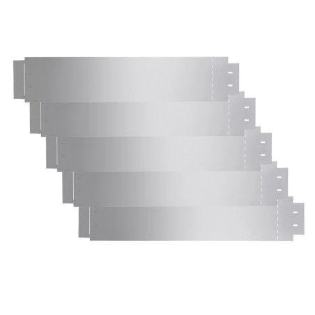 Nurmikkoaidat 5 kpl Galvanoitu teräs 100x20cm