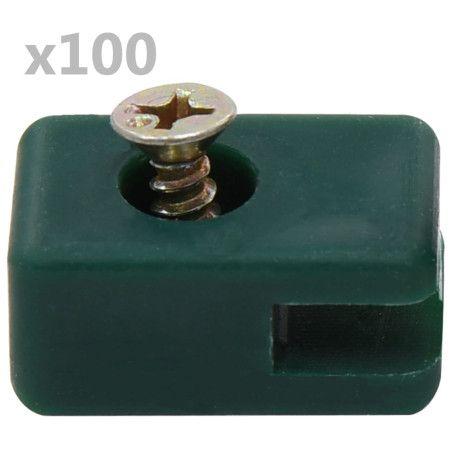 Puutarha-aidan vaijeripidike ruuvilla 100 sarjaa vihreä
