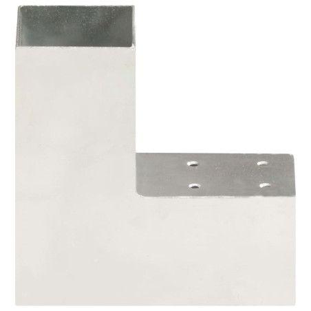 Tolppaliitin L-muoto galvanoitu metalli 71x71 mm