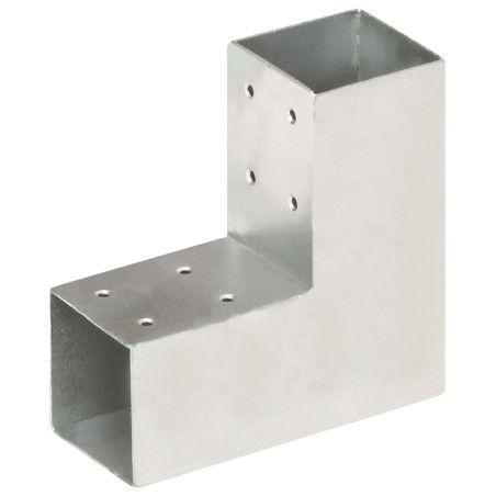 Tolppaliittimet 4 kpl L-muoto galvanoitu metalli 71x71 mm
