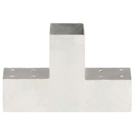 Tolppaliitin T-muoto galvanoitu metalli 71x71 mm
