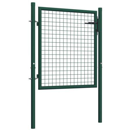 Aitaportti teräs 100x125 cm vihreä