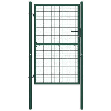 Pihaportti teräs 100x175 cm vihreä