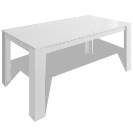 Ruokapöytä 140x80x75 cm valkoinen