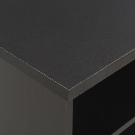 Baaripöytä musta 60x60x110 cm