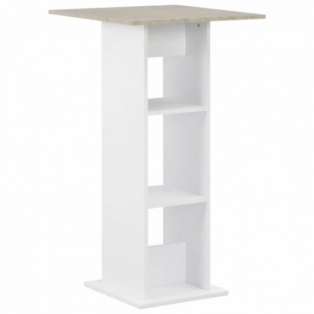Baaripöytä valkoinen 60x60x110 cm