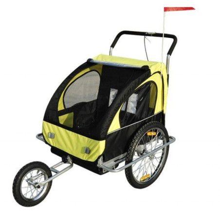 2 in1 lasten kuljetusrattaat (keltamusta)