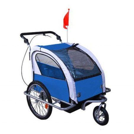 2 in 1 lasten kuljetusrattaat 360° (sinivalkoinen)