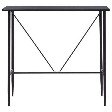Baaripöytä musta 120x60x110 cm MDF