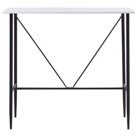 Baaripöytä valkoinen 120x60x110 cm MDF