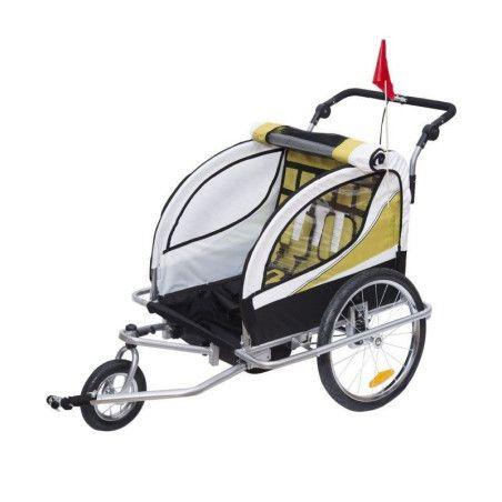 2 in1 lasten kuljetusrattaat 360° (keltavalkoinen)