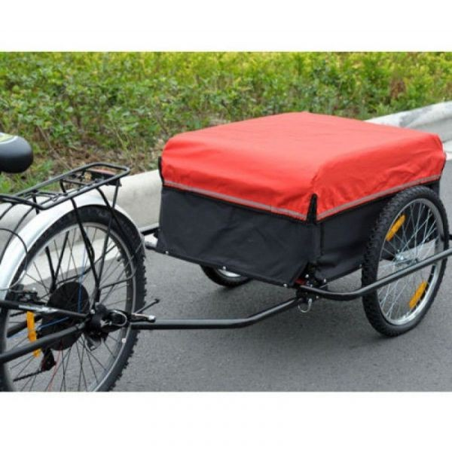 Pyöräilykärry (punainen/musta)