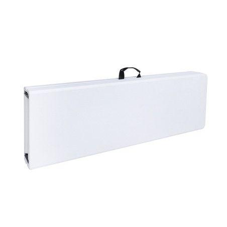 Taittopenkki 183x30x43cm, valkoinen