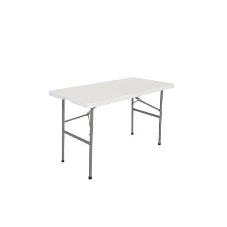 Taittopöytä 122x60x74cm, valkoinen