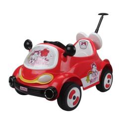 Sähköauto pinkki/punainen