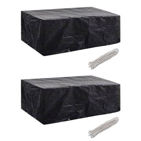 Puutarhakalusteiden suojapeitteet 2 kpl, 200x160x70 cm