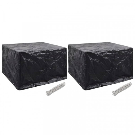 Puutarhakalusteiden suojapeitteet 2 kpl, 135x135x90 cm