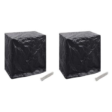 Puutarhakalusteiden suojapeite 2 kpl 8 purjerengasta 160x55x182 cm